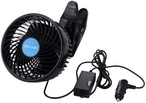 Alagoo 12V Car Cooling Vehicle Clip Fan