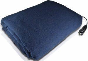 Stalwart Electric Heated 12 Volt Fleece Blanket