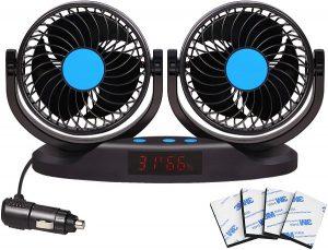 EXCOUP 12 Volt Vehicle Fan