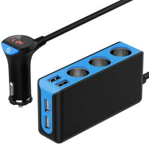 The absolute best 12-volt splitter we can offer that will turn your single socket into 7 sockets of multiple varieties with a warning system for voltage fluctuation.
