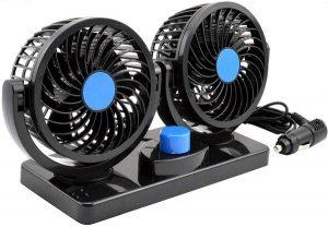 AboveTEK Dual Head Car Fan