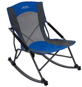 The best budget and light-weight rocking camp chair, making it both the cheapest and easiest chair to carry around while on a trip.