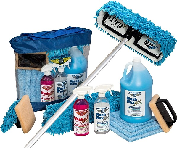 This is an all-inclusive kit that takes care of all your RV cleaning supplies whether it is wax, towels or, of course, the amazing wash brush