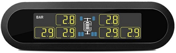 The best budget tire pressure monitoring system that can monitor six tires. Compatible with any car, RV, or tow truck.