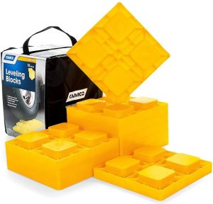 This is a bundle of 10 leveling blocks that will elevate and firmly hold your RV at your desired height without allowing any sliding.