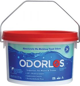 The Odorlos Black Tank Treatment comes with a scoop to ensure you use the right amount of cleaner to fully clean your tank. It uses a 100% biodegradable, formaldehyde-free formula for the best results.
