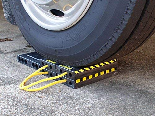 """This four-pack of utility blocks is perfect for leveling your RV and stabilizing any kind of big machines. They can support a toy hauler of about 20,000 pounds. """