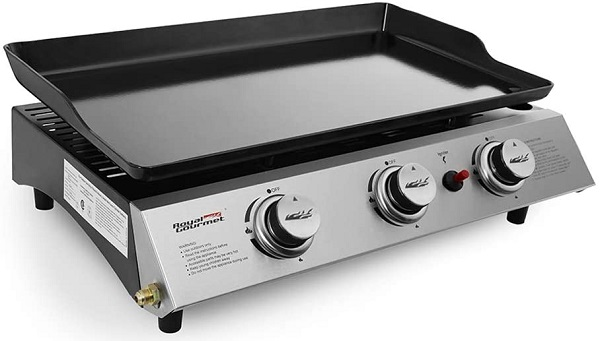 At under a hundred bucks, this is the best budget portable grill with three burners and a 316 sq. in. cooking area.