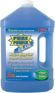 A powerful cleaner that leaves your toilet clean and odor-free for a long time. It is also capable of dissolving struvite, tissue, and waste.